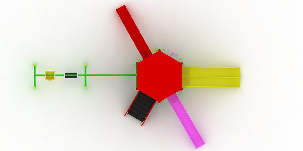 Polyester Kaydıraklı Oyun Grupları ÇOG-16