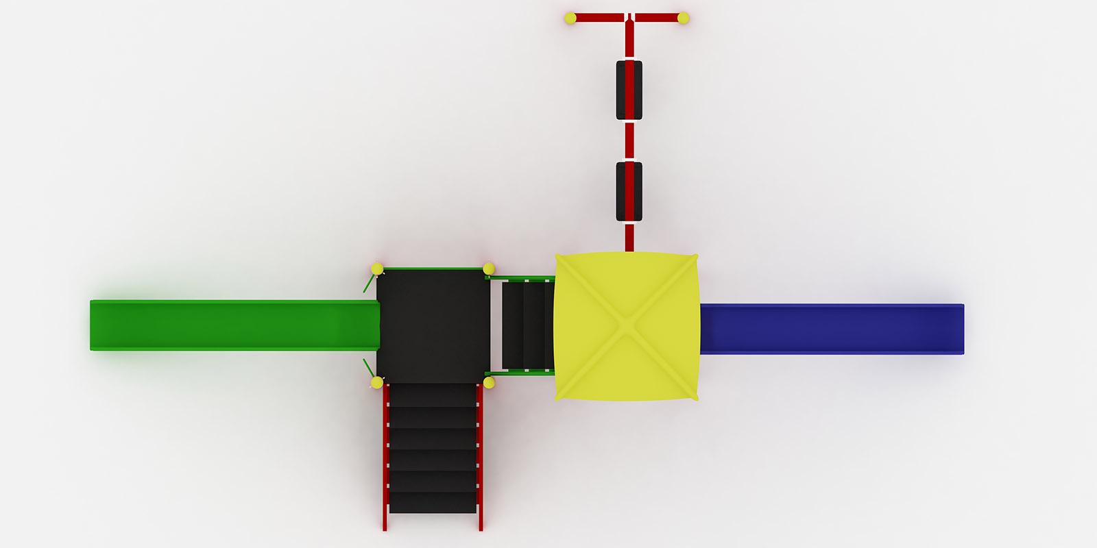 Polyester Kaydıraklı Oyun Grupları ÇOG-18