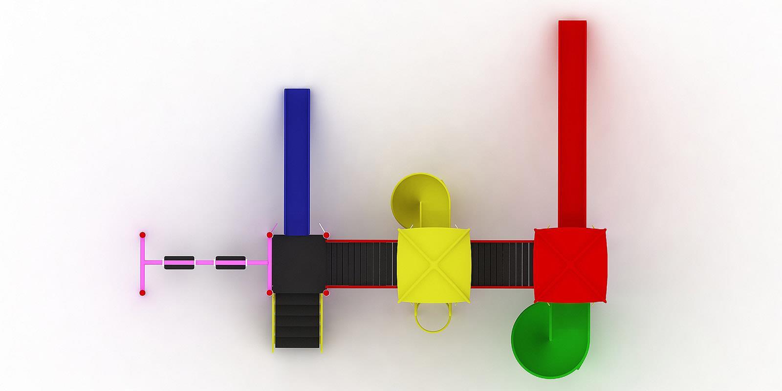 Polyester Kaydıraklı Oyun Grupları ÇOG-21