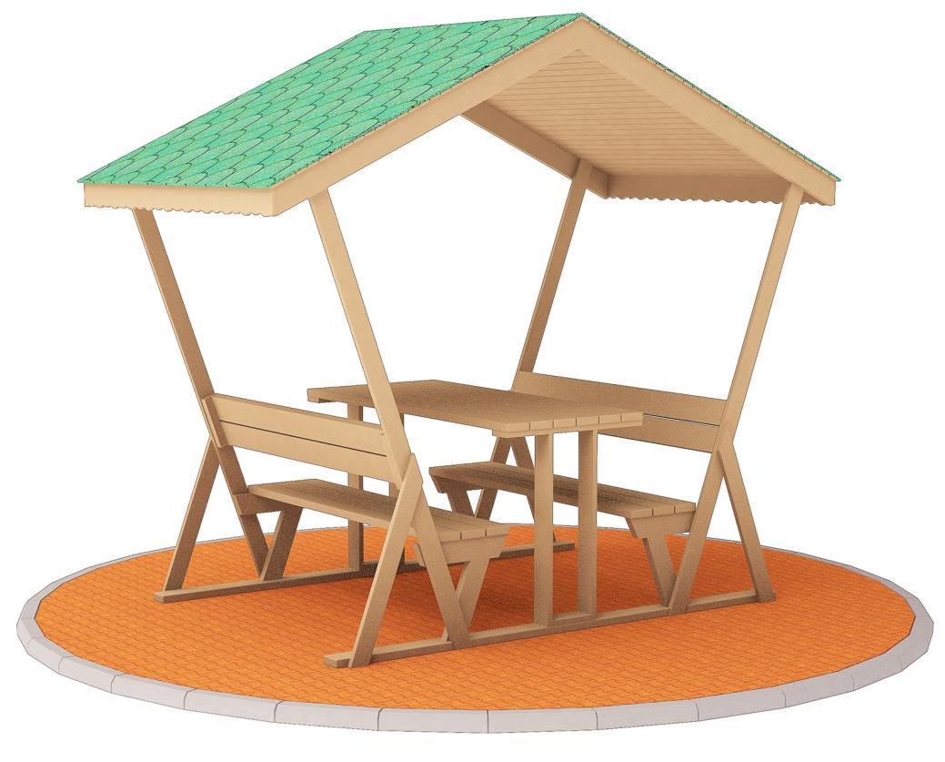 Çatılı Piknik Masaları ÇPM-04