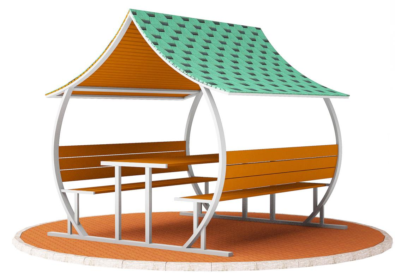 Metal Çatılı Piknik Masaları